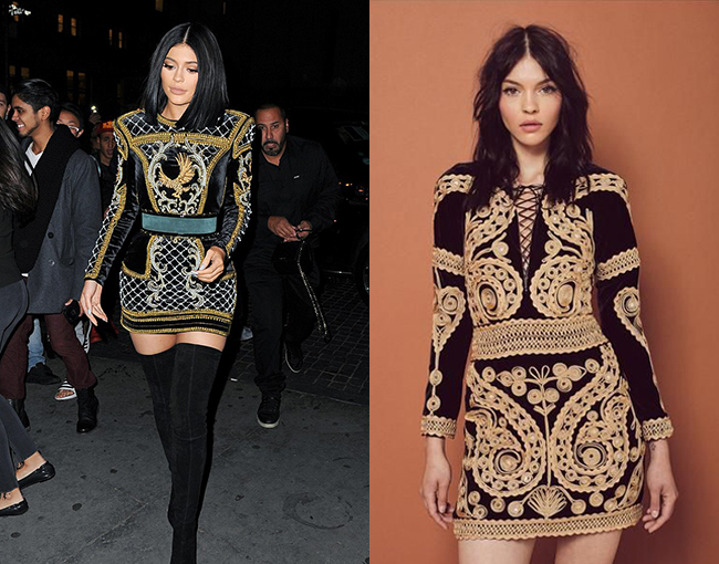Kylie Jenner Balmain Dress