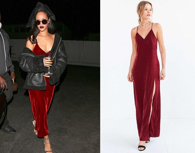 Rihanna Velvet Dress