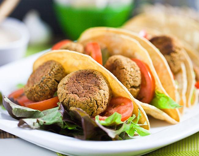tacos con falafel