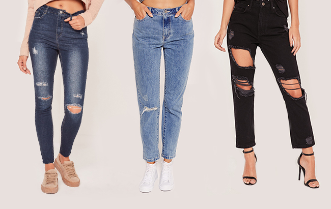Missguided distressed jeans