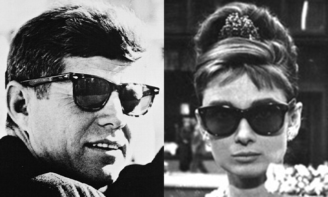 f5e16ed50 It's no secret that President John F. Kennedy favored his Ray-Ban sunglasses  because they complemented his image as a charming, sophisticated man of the  ...