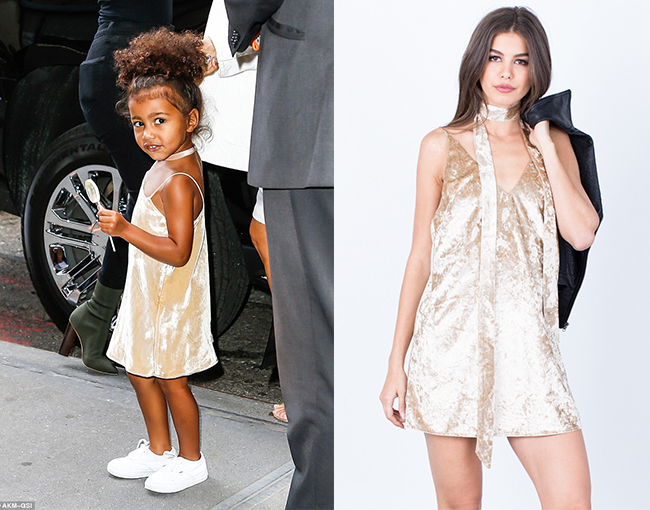Sassy North West Gold Dress