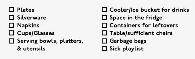 Friendsgiving Checklist