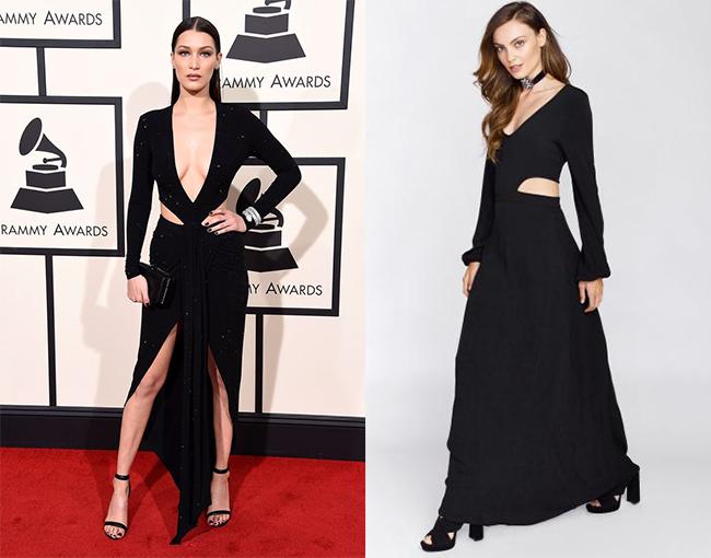 Bella Hadid Black Dress Red Carpet