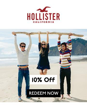 hollister 10 off